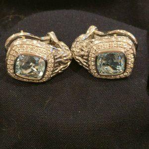 John-Hardy-Sterling-Silver-Blue-Topaz-Earrings